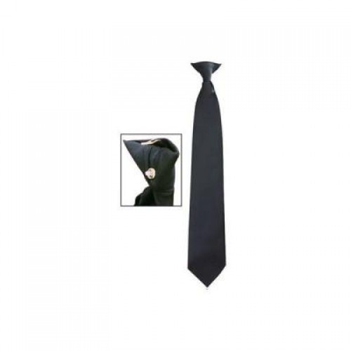cravate noire s curit clip. Black Bedroom Furniture Sets. Home Design Ideas