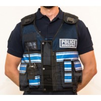 Gilet POLICE MUNICIPALE Bleu Marine Haute Visibilité THOR