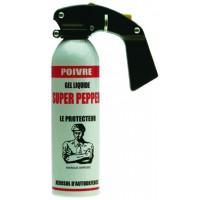 EXTINCTEUR Lacrymogène gel poivre SUPER PRO self défense 500ML