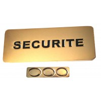BADGE SECURITE MAGNETIQUE METAL DORE