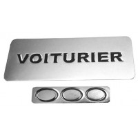 BADGE VOITURIER MAGNETIQUE ARGENTE + EPOXY