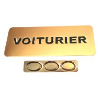 BADGE VOITURIER MAGNETIQUE DORE