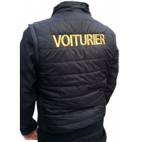 """BLOUSON VOITURIER MANCHES AMOVIBLES """"BRODERIE OR"""""""