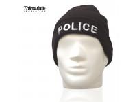 Bonnet Acrylique avec doublure Thinsulate Brodé POLICE