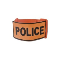 Brassard Police Orange Elastique Ajustable
