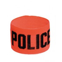 Brassard Police Orange Elastique