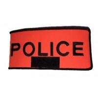 Brassard Police Orange Velcro avec RIO