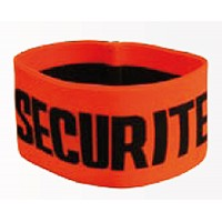 Brassard Securite Orange Elastique