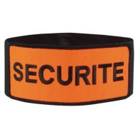 Brassard Securite Orange Velcro