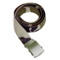 Ceinture toile militaire camouflage