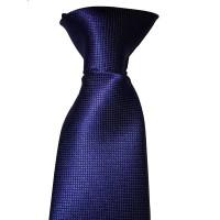 """Cravate Sécurité à Clip Bleu Motif """"Caviar"""""""