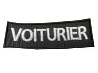 FLAP VOITURIER COEUR BRODE ARGENT