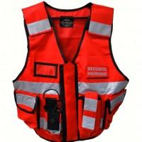 Gilet Rouge Haute Visibilité Sécurité Incendie THOR