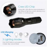 LAMPE TORCHE CREE XML-T6 FOCUS REGLABLE 800 Lumens USB