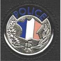 Medaille police adhesive pour porte carte police