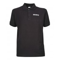 POLO SECURITE NOIR BRODERIE SECURITE BLANC