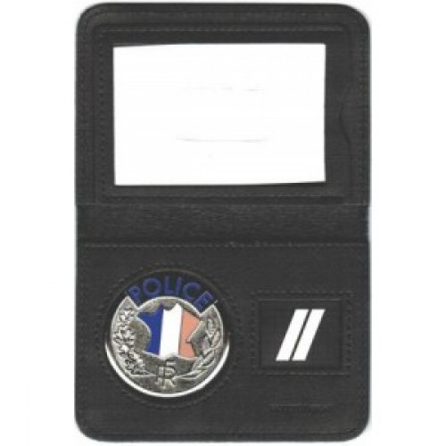 Porte Carte 2 Volets POLICE NATIONALE Avec MEDAILLE Et GRADE