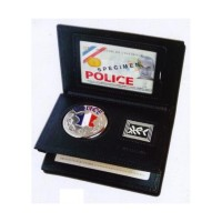 Porte Carte 3 volets POLICE NATIONALE avec MEDAILLE et GRADE