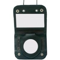 Porte Carte Format CB 2 volets avec chaine tour de cou et porte médaille de ceinture