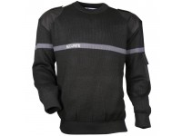 pull-noir-bande-grise-securite-blanc